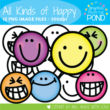 All Kinds of Happy - Face Clipart for Teaching Resources
