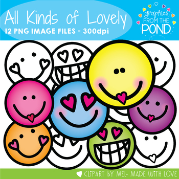 All Kinds of Lovely - Face Clipart for Teaching Resources