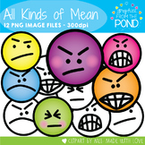 All Kinds of Mean - Face Clipart for Teaching Resources