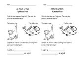 All Kinds of Pets (F&P Level C) worksheet