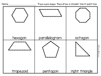 All Kinds of Plane Shapes - sort by color, shape, size, name