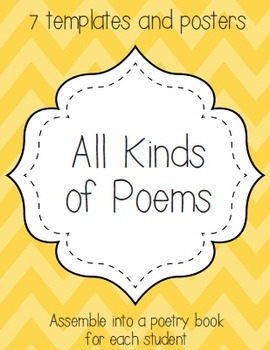 All Kinds of Poems {Haiku, Cinquain, Free Verse, Acrostic,