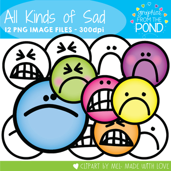 All Kinds of Sad - Face Clipart for Teaching Resources