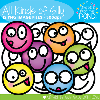 All Kinds of Silly - Face Clipart for Teaching Resources