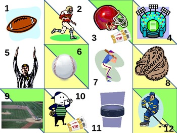 All Kinds of Sports Calendar Pattern