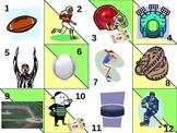 All Kinds of Sports Calendar Pattern