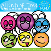 All Kinds of Tired - Face Clipart for Teaching Resources
