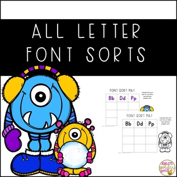 All Letter Font Sorts - Winter Themed