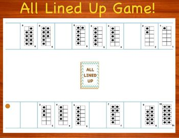 All Lined Up : Numbers 1 - 10 Game