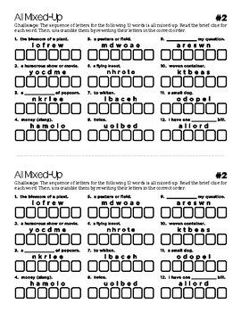 All Mixed Up: 101 Six Letter Word Scramble Puzzles by Josh's Materials