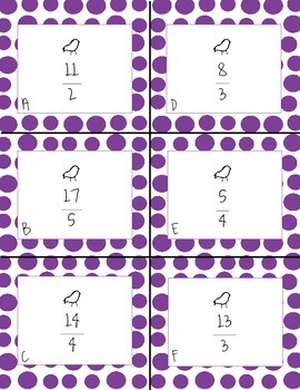 All Mixed Up - An Improper Fractions & Mixed Numbers Activity