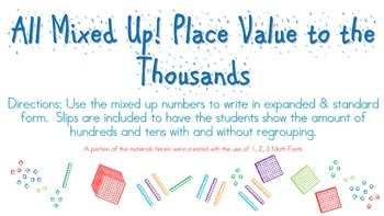 All Mixed Up! Place Value to the Thousands