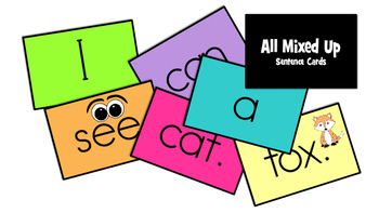 All Mixed Up Sight Word Sentences- CAN