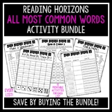 All Most Common Words Activities Bundle - Reading Horizons