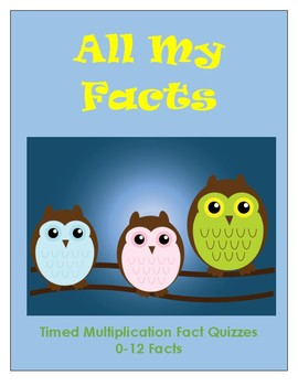 All My Facts -- Timed Multiplication Quizzes