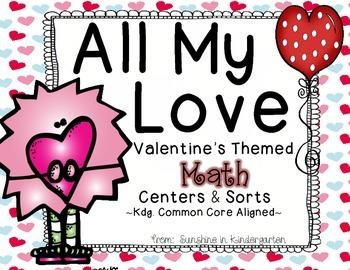 All My Love {Valentine Math Centers}