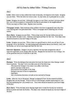 All My Sons by Arthur Miller - Creative and Functional Writing Assignments
