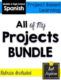All My Spanish Projects BUNDLE - 19 Projects, Presentations, Skits