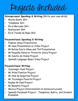 Spanish facebook project template menu project ideas templates.