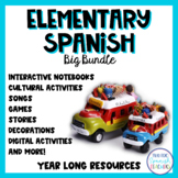 Year Long Spanish Resources for Elementary Spanish Curriculum - Big Bundle