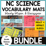 NC 5th Grade Science EOG Vocabulary Bundle w Google Slides Distance Learning