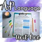 All New (2019) AP English Language Unit 1: Complete Unit Curriculum