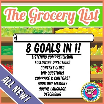 The Grocery List Game: 8 Language Goals in 1