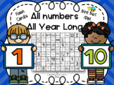 All Numbers 1-10 Bee Bot Mat and Flash Cards All Year Long