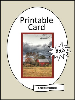 picture regarding Barn Printable referred to as All Party Card Electronic Down load Printable, Barn, Rural, Birthday