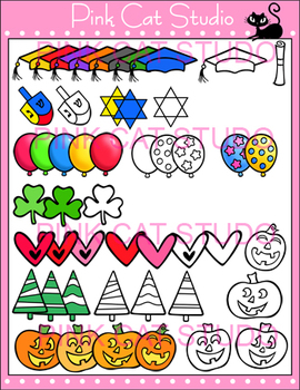 All Occasions Coordinates Clip Art Mega Value Pack - Personal & Commercial Use