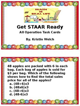 All Operation Word Problem Task Cards