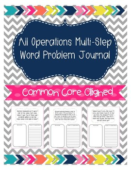 All Operations Multi - Step Word Problem Math Journal