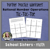 All Operations Rational Numbers Tic Tac Toe