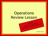 All Operations Review Lesson