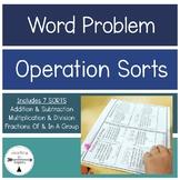 Word Problem Sort and Solves!