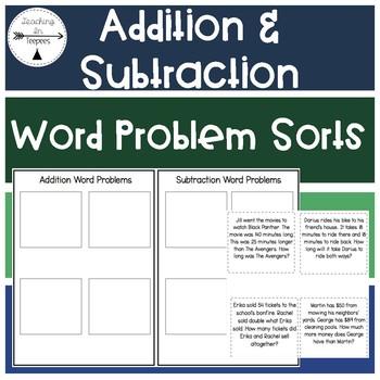 Word Problem Operation Sorts