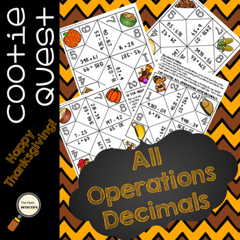 All Operations with Decimals - Thanksgiving Cootie Quest