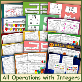 All Operations with Integers Bundle