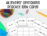 All Operations with Integers Task Cards Skill Set