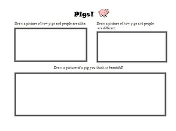 All Pigs are Beautiful worksheet!