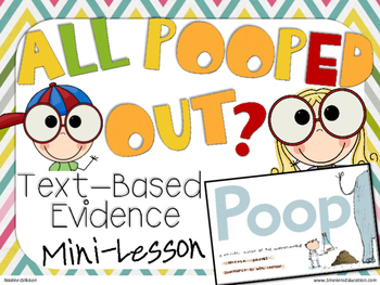 All Pooped Out Text Evidence Gameboard
