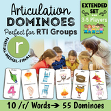 All Positions R (Initial, Medial, Final) Speech Therapy - Articulation Dominoes