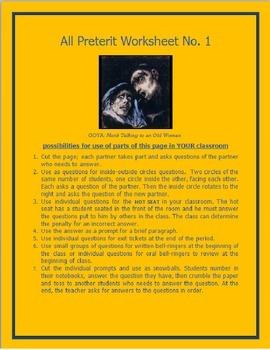 All Preterit Worksheet #1