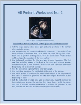 All Preterit Worksheet #2
