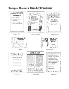 All-Purpose Borders Clip Art: 26 Black & White Images for Creative Use