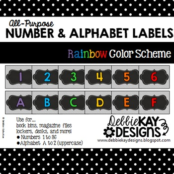 All-Purpose Number & Alphabet Labels
