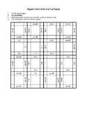 All Quadrant Unit Circle Degree Cut-Up Puzzle