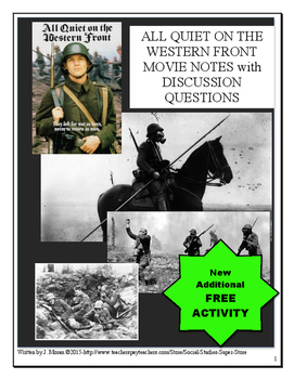 All Quiet On The Western Front Movie Notes (1979)