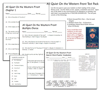 all quiet on the western front test pdf