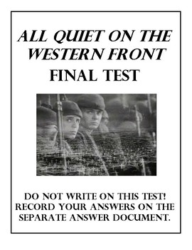 All Quiet on Western Front Final Test